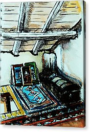 In The Attic Acrylic Print by Anne Parker