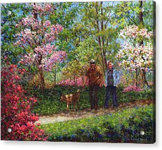 In The Azalea Garden Acrylic Print by Susan Savad