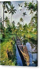 In The Backwaters Of Kerala Acrylic Print