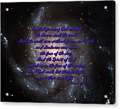 In The Beginning God Genesis 1 1-3 Acrylic Print by L Brown