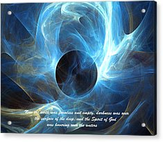 Acrylic Print featuring the digital art In The Beginning by R Thomas Brass