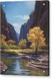 In The Bend Zion Canyon Acrylic Print