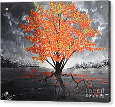 Blaze In The Twilight Acrylic Print