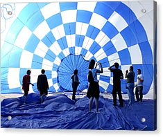 Acrylic Print featuring the photograph In The Blue by Christopher McKenzie