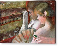 In The Box Acrylic Print by Mary Stevenson Cassatt