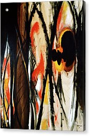 In The Burning Thistle I See The Heart Of Man Acrylic Print by R Johnson