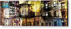 In The City Acrylic Print by Jeff Klingler