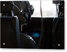 In The Cockpit Acrylic Print by Paul Job