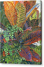 In The Conservatory - 2nd Center - Orange Acrylic Print by Nick Payne