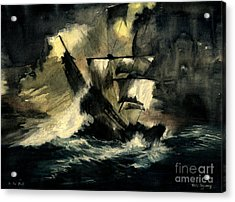 In The Dark Acrylic Print by Melly Terpening