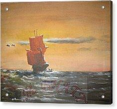 In The Deep Ocean Acrylic Print by M Bhatt