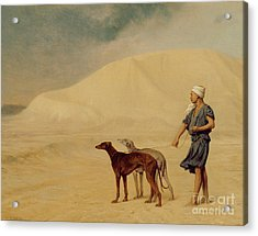In The Desert Acrylic Print by Jean Leon Gerome