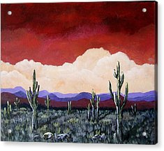 Acrylic Print featuring the painting In The Distance by Suzanne Theis