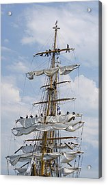 In The Eagle's Rigging Opsail 2012 Acrylic Print by Marianne Campolongo
