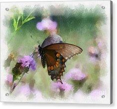 In The Flowers Acrylic Print by Kerri Farley