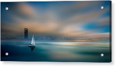 ...in The Fog Of The Bay Acrylic Print