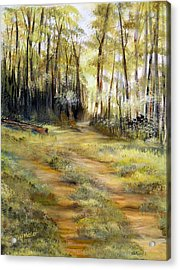 Acrylic Print featuring the painting In The Forest by Dorothy Maier