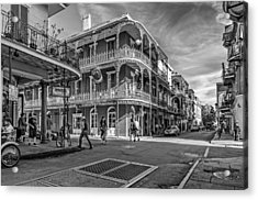 In The French Quarter Monochrome Acrylic Print by Steve Harrington