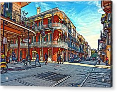 In The French Quarter Painted Acrylic Print by Steve Harrington