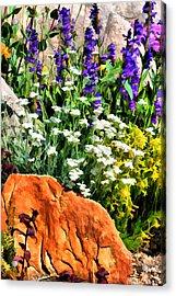 In The Garden Acrylic Print by Brian Davis