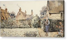 In The Garden Acrylic Print by Childe Hassam
