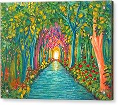 In The Garden Acrylic Print by Deyanira Harris