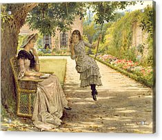 In The Garden Acrylic Print by George Goodwin Kilburne