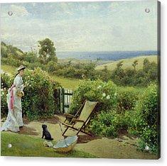 In The Garden Acrylic Print by Thomas James Lloyd