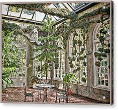 In The Greenhouse Acrylic Print by Elin Mastrangelo