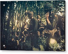 In The Jungle - Vietnam Acrylic Print by Edward Fielding