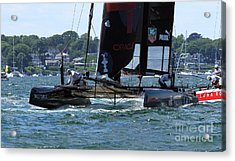 In The Lead Acrylic Print by Butch Lombardi