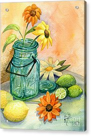 In The Lime Light Acrylic Print by Marilyn Smith