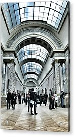 In The Louvre  Acrylic Print by Marianna Mills