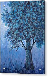 Acrylic Print featuring the painting In The Mist by Suzanne Theis