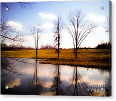 In The Mood Acrylic Print by Peggy Franz
