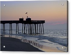 In The Morning On The Beach Ocean City Acrylic Print by Bill Cannon
