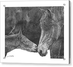Acrylic Print featuring the drawing in the name of Love by Marianne NANA Betts