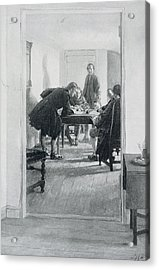 In The Old Raleigh Tavern, Illustration From At Home In Virginia By Woodrow Wilson, Pub. In Harpers Acrylic Print by Howard Pyle
