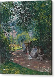 In The Park Monceau Acrylic Print by Cluade Monet