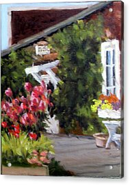 In The Patio Acrylic Print by Char Wood