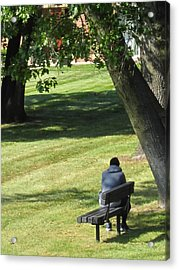 In The Privacy Of His Own Thoughts Acrylic Print by Guy Ricketts