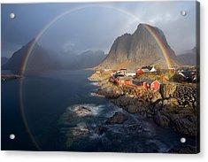 In The Rainbow Acrylic Print by Nicolas Schneider