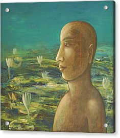 Acrylic Print featuring the painting In The Realm Of Buddha by Mini Arora