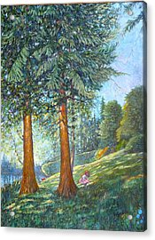 Acrylic Print featuring the painting In The Shade by Charles Munn