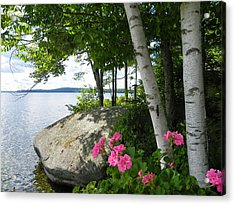In The Shade Of The Birches Acrylic Print
