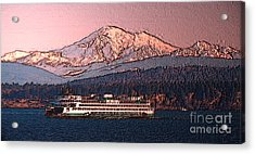 Acrylic Print featuring the digital art In The Shadow Of A  Mountain by Elaine Ossipov