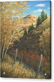 Belt Butte Autumn Acrylic Print