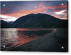 Acrylic Print featuring the photograph In The Shadow Of Mount Kaputyat by Ben Shields