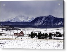 Acrylic Print featuring the photograph In The Shadow Of Pike's Peak by Kristal Kraft