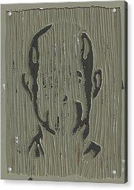 In The Shadows Linoleum Block Carving Acrylic Print